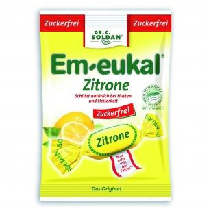 Em-eukal® Zitrone (citrina) pastilės su saldikliais