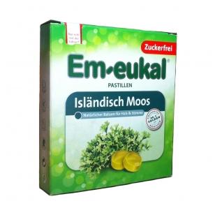 Em-eukal® Islandisch Moos (islandinė kerpena) pastilės su saldikliais
