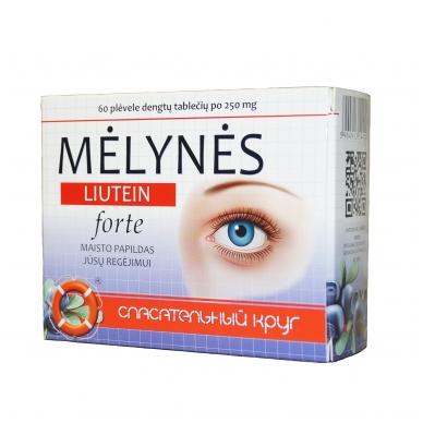 Mėlynės (černika) LIUTEIN FORTE® 250 mg