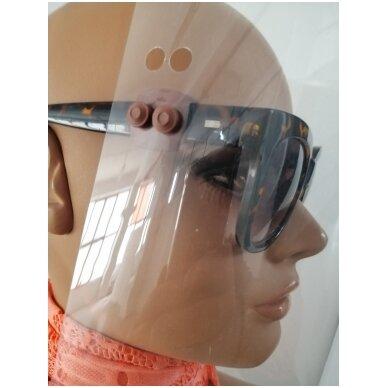 Apsauginis veido skydelis su specialiais laikikliais  (SMART CLIP) 21cm x 28,5cm