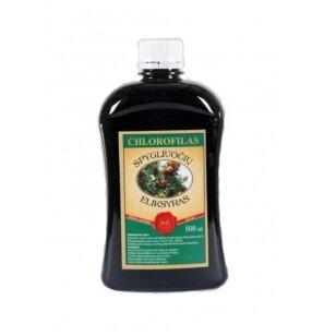 Chlorofilas - Spygliuočių eliksyras, 500ml (plast. butelyje)