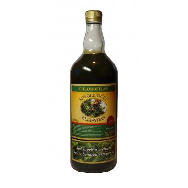 Chlorofilas - Spygliuočių eliksyras, 1000ml (stikl. butelyje)