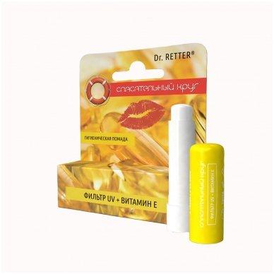 Gelbėjimo ratas®, Apsauginis hig.lūpų balzamas (UV filtras+Vitaminas E), 5 g