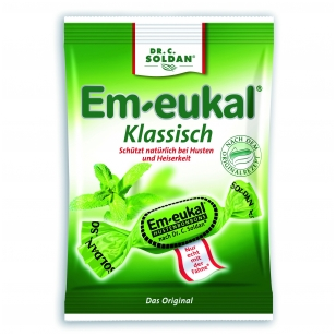 Em-eukal® KLASIKINIO skonio pastilės su eukaliptu
